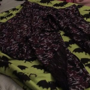 Purple with Lace Warrior Work out Leggings